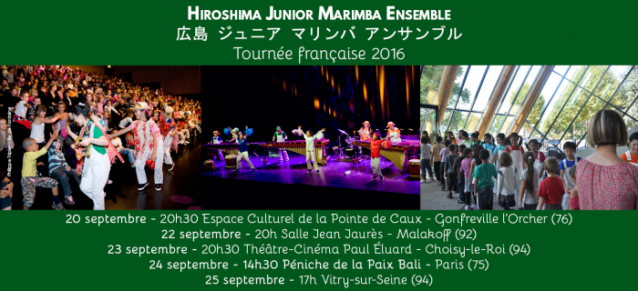 Le Hiroshima Junior Marimba Ensemble de retour en France