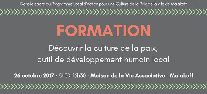 [Formation] Découvrir la culture de la Paix, outil de développement humain local