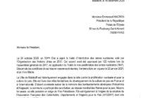 Appel au gouvernement Français à rejoindre le TIAN