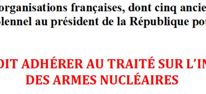 Déclaration commune pour une interdiction des armes nucléaires