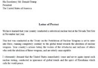 Tests nucléaires au Nevada – Courrier de protestation à Donald TRUMP